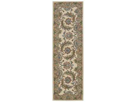 Nourison India House 2'3'' x 7'6'' Runner Ivory/Gold Area Rug