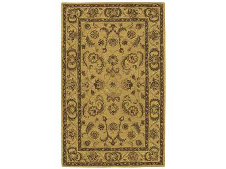 Nourison India House Rectangular Gold Area Rug