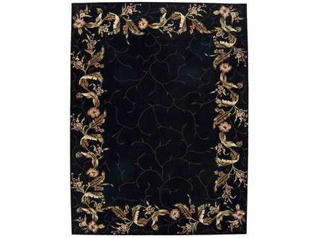 Nourison Julian Rectangular Black Area Rug