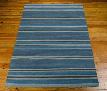 Nourison Kathy Ireland Home 08 Griot Rectangular Turquoise Area Rug