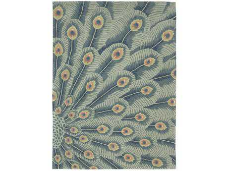 Nourison Moda Rectangular Peacock Area Rug