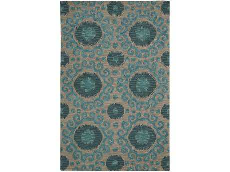Nourison Siam Rectangular Grey Area Rug