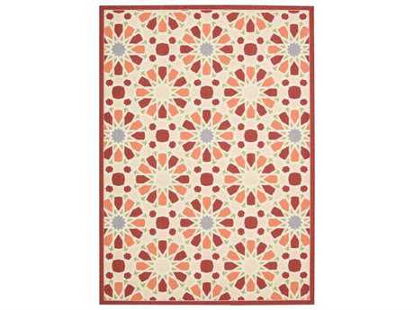 Nourison Waverly Sun & Shade Rectangular Flamingo Area Rug