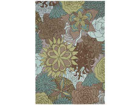 3bd13812616a8f Nourison South Beach Rectangular Aqua Brown Area Rug