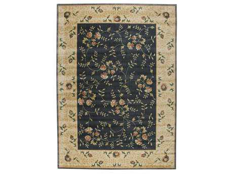 Nourison Somerset Rectangular Navy Area Rug