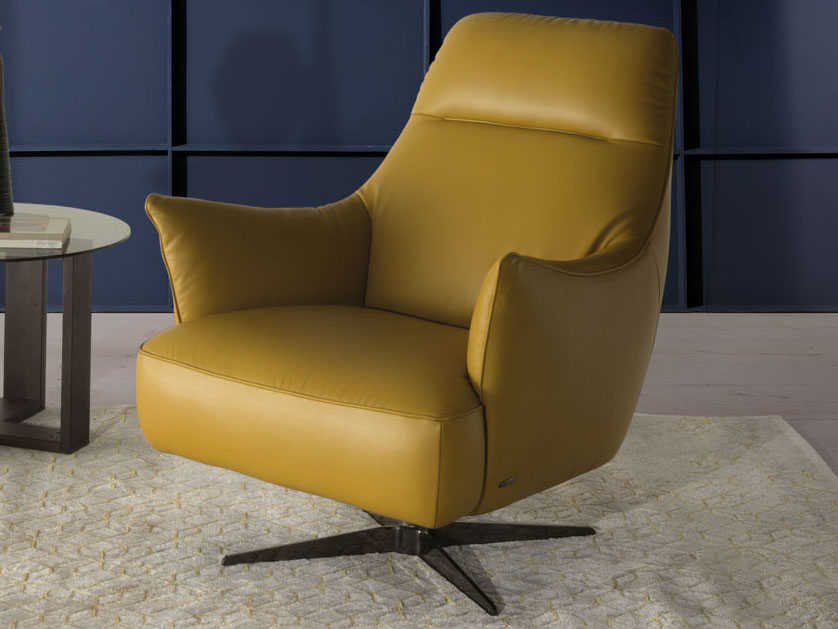 Natuzzi Editions Calma Swivel Accent Chair Ntzc056066