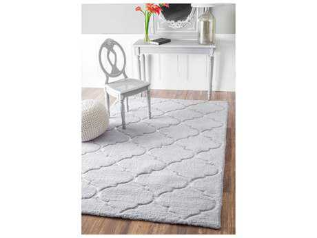 Nuloom Hand Tufted Kathline Shag Grey Rectangular Area Rug
