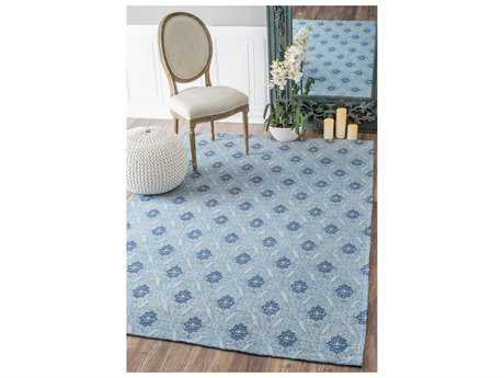 Nuloom Machine Made Maupin Blue Rectangular Area Rug