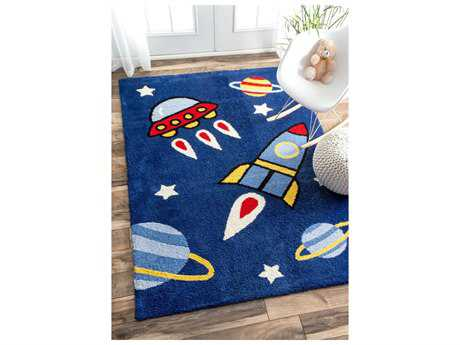 Nuloom Machine Made Valencia Navy Rectangular Area Rug