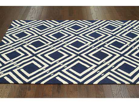 nuLOOM Barcelona Navy Rectangular Area Rug