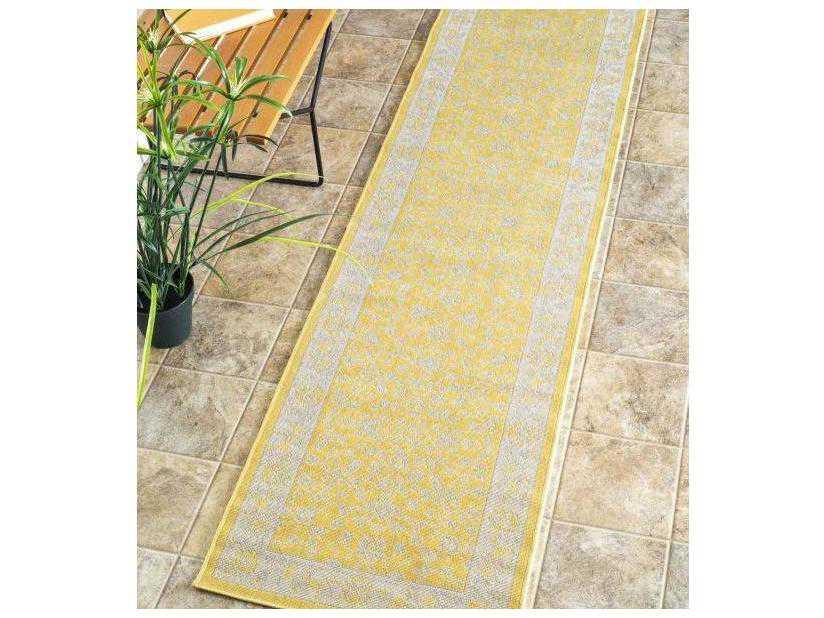 Nuloom Indoor/ Outdoor Everett Yellow 2\' x 7\'6\'\' Runner Rug ...