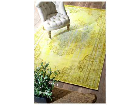 nuLOOM Remade Overdyed Funky Yellow Rectangular Area Rug