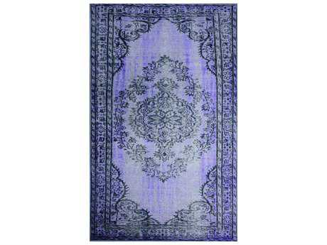 nuLOOM Remade Overdyed Purple Rectangular Area Rug