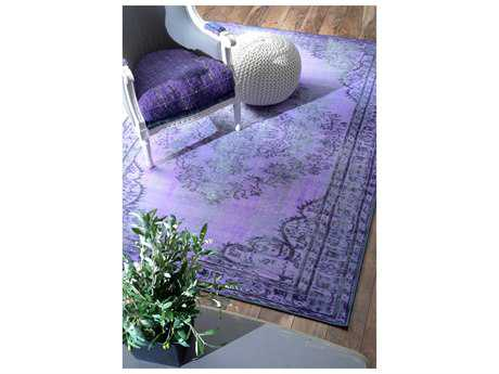 nuLOOM Remade Overdyed Purple Rectangular Area Rug
