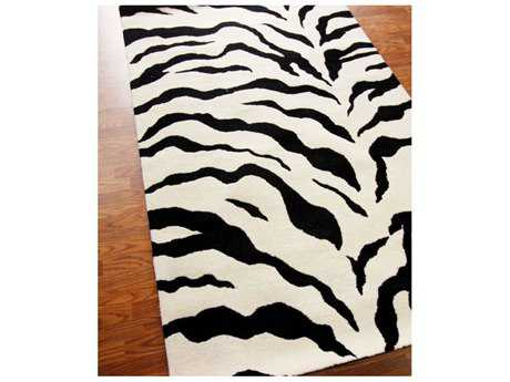 nuLOOM Zebra Black & White Rectangular Area Rug