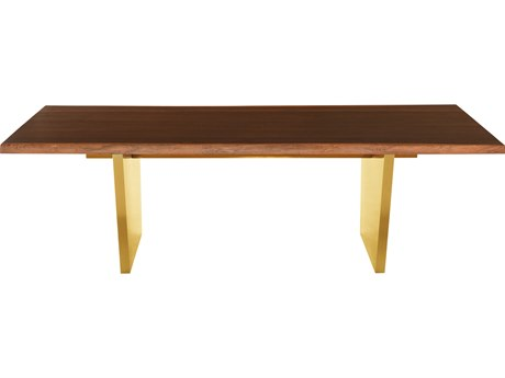 Nuevo Living Aiden Brown / Gold Rectangular Dining Table