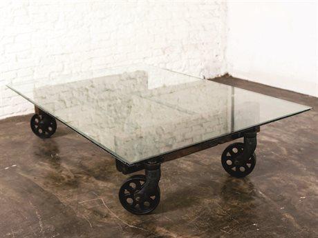 Nuevo Living V35 Clear 53.3'' x 35.5'' Rectangular Coffee Table