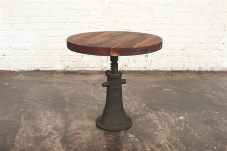 Nuevo V40 Matte Burnt Umber 19'' Wide Round Pedestal Table
