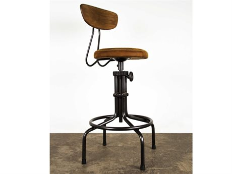 Nuevo Buck Matte Umber Tan Bar Stool