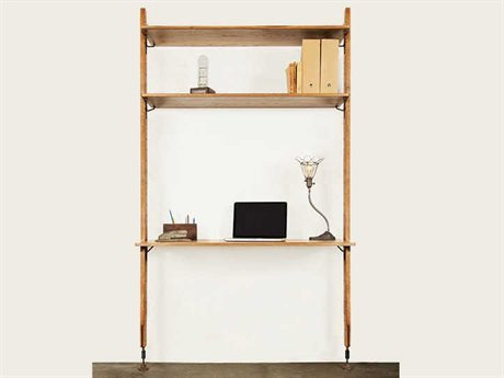 Nuevo Living Theo Brown Wall Unit With Desk