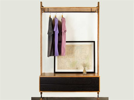 Nuevo Theo Matte Hard Fumed Oak Wardrobe Armoire