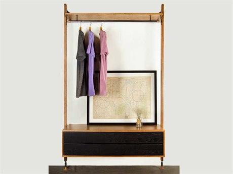 Nuevo Theo Matte Hard Fumed Oak Clothing Rail