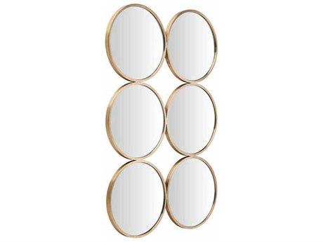 Nuevo Living Radeau Gold 25.3'' x 38'' Rectangular Wall Mirror