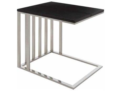 Nuevo El Matte Black 15.75''L x 19.75''W Rectangular End Table