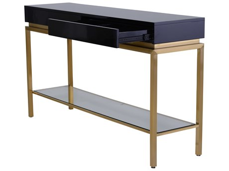 Nuevo Living Isabella Black 59.8'' x 15.8'' Rectangular Console Table