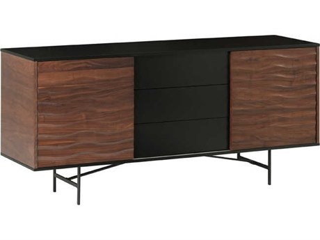 Nuevo Living Swell Brown Two-Door / Three-Drawer 71'' x 17.8'' Sideboard Cabinet - Buffee