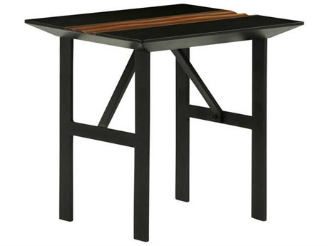 Nuevo Living Swell Black 23.5'' Square Side Table