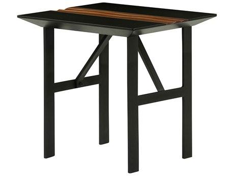 Nuevo Swell Matte Black 23.5'' Wide Square End Table