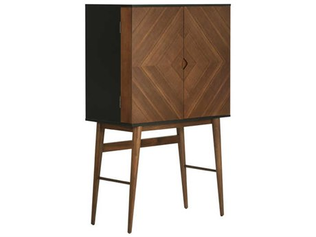 Nuevo Living Vivian Brown Bar Cabinet