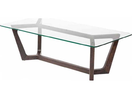 Nuevo Living Siku Clear 47.3'' x 23.8'' Rectangular Coffee Table