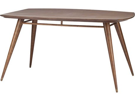 Nuevo Boyd Matte Walnut 59.25''L x 35.5''W Rectangular Dining Table
