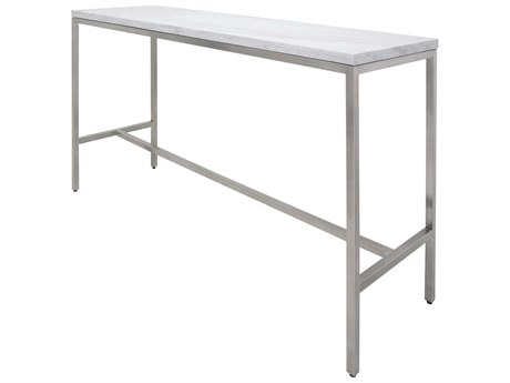 Nuevo Verona Polished White 60''L x 21.75''W Rectangular Bar Table