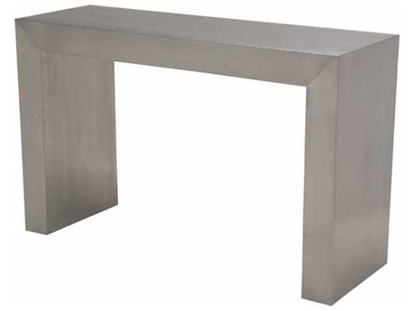 Nuevo Reese Brushed Silver 60''L x 16''W Rectangular Console Table