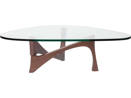 Nuevo Akiro Clear 49.25''L x 35.5''W Triangular Coffee Table