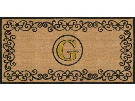 Nuloom Machine Made Letter G Outdoor Doormat