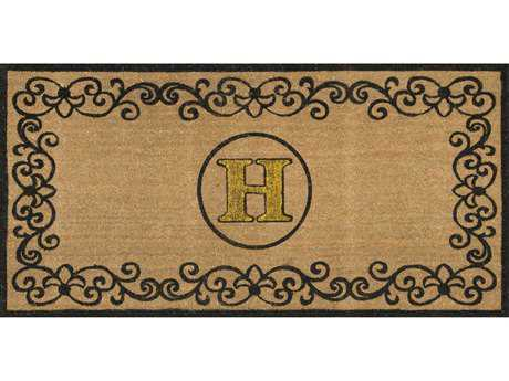 Nuloom Machine Made Letter H Outdoor Doormat