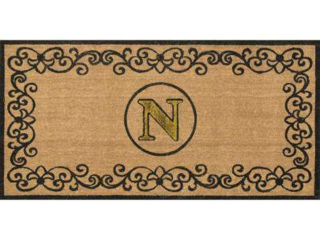 Nuloom Machine Made Letter N Outdoor Doormat