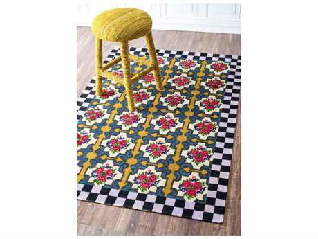 Nuloom Tile Jute Black Area Rug