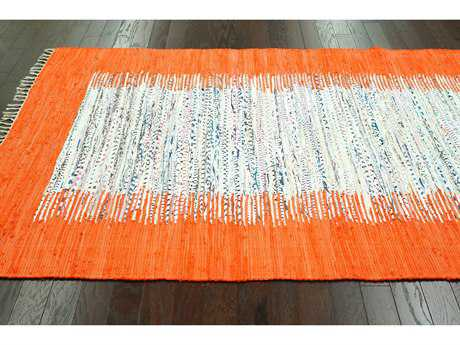 nuLOOM Madison Orange Rectangular Area Rug