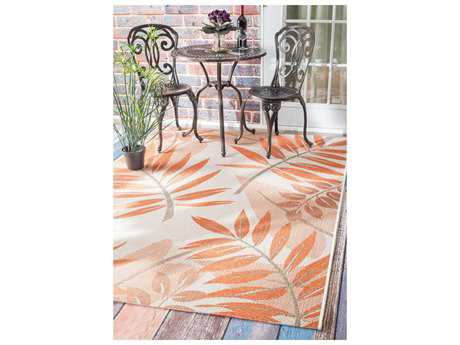 Nuloom Annevoie Outdoor Trudy Orange Area Rug