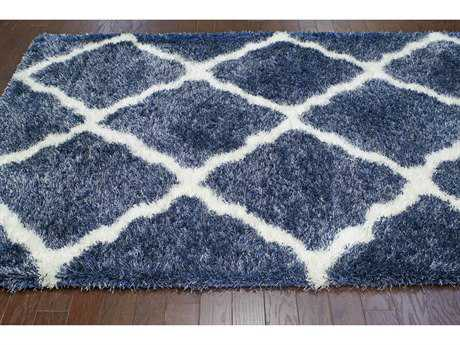 nuLOOM Bobo Shag Denim & White Rectangular Area Rug