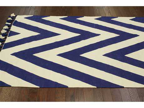 nuLOOM Lexington Navy Rectangular Area Rug