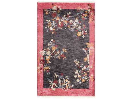 Nuloom Country & Floral Hand Knotted Margie Chinese Art Deco Charcoal Area Rug