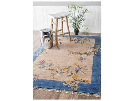 Nuloom Country & Floral Hand Knotted Margie Chinese Art Deco Beige Area Rug