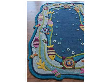 nuLOOM Kinder Blue 5' x 7' Rectangular Area Rug