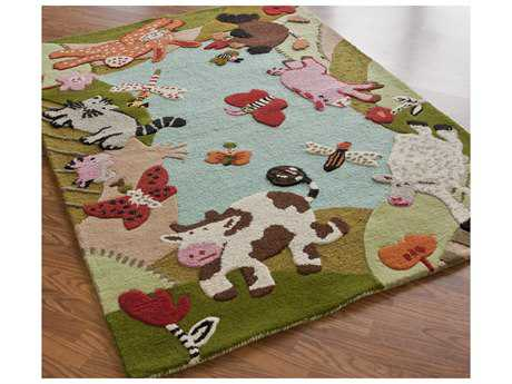 nuLOOM Kinder Green Rectangular Area Rug